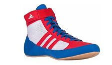 New ADIDAS HVC 2 Wrestling Shoes MMA Boxing Blue Red White pretereo AQ3324