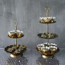 Vintage Metal Cupcake Fruit Stand Wedding Party Display Cake Tower 2 / 3 Tier