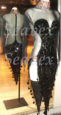 U4964 Sexy Ballroom women salsa rumba samba Latin chacha dance dress Custom made