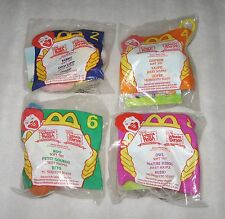 LOT OF 4 WALT DISNEY'S WINNIE THE POOH MCDONALDS PLUSH CLIP ON TOY - SOFT TOY