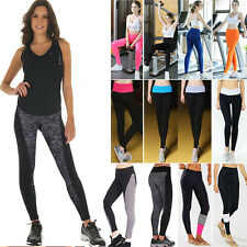 Women High Waist Stretch Yoga Fitness Leggings Running Gym Sports Pants Trousers