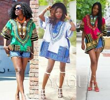Women's African Dashiki Shirts Dress Boho Hippie Gypsy Kaftan Festive Clothing