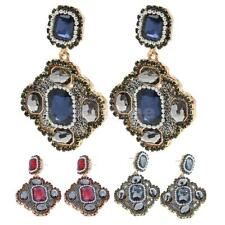 Women's Rhinestone Geometric Square Dangle Pendant Alloy Vintage Stud Earrings