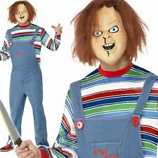 Adult Chucky Costume Halloween Childs Play Doll Mens Fancy Dress Outfit New
