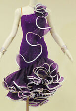 U4961 Ballroom women salsa rumba Latin chacha dance dress tutu Custom made