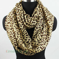 Women's Fashion Scarves Leopard Print Soft Casual Ladies Long/Infinity Scarf New