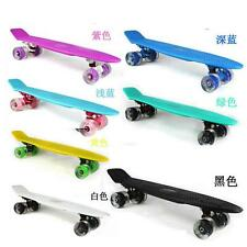 "22"" Complete Skateboard Fishboard Mini Cruiser Skate Board Longboard Deck Board"
