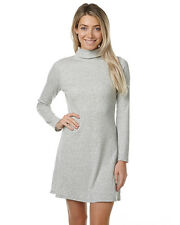 New Minkpink Women's Rib Funnel Neck Womens Dress Womens Robe White