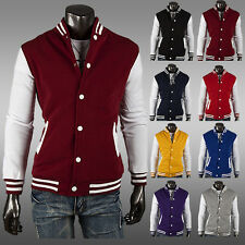Mens Letterman Baseball Varsity Jacket College Casual Uniform Coat Men Top umi