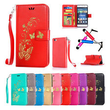 Hot Cute Pattern Butterfly Flip Wallet Card Leather Stand Case Cover For Huawei