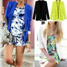 Spring Autumn Women Slim Suit Blazer Candy Color Jacket Coat Outwear Casual Hot