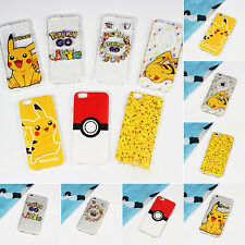 Cute Pokemon Pikachu Protective Soft Silicone Phone Case For iPhone 5 5s 6 Plus