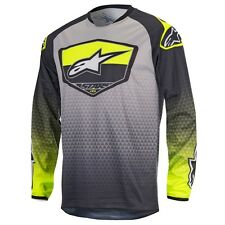 2017 Alpinestars Racer Supermatic YOUTH MX Motocross Jersey - Anthracite Flo