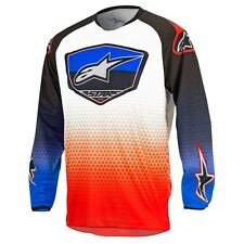 2017 Alpinestars Racer Supermatic YOUTH MX Motocross Jersey - Red Blue White