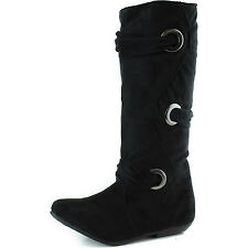 Women's Comfortable Suede Wrapped Decor Rounded Toe Fashion Boots Small Heel