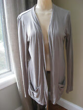 American Eagle Outfitters Light Gray Open Front Cardigan Sweater Size Medium