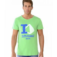 OFFICIAL Amnesia Ibiza: I Love Amnesia Men's Green T-shirt RRP £40.00
