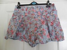 Be Beau Vintage Style Floral Culottes Shorts Size 14