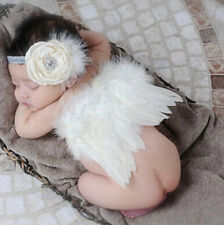 Costume Angel Wings Prop Outfits Newborn Photo Photography Baby Girls Boys White