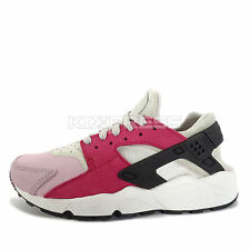 Nike WMNS Air Huarache Run PRM [683818-006] NSW Running Light Bone/Black-Red