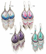 Dazzling Handmade Chandelier Thread Earrings for Pierced Ears