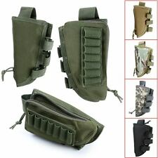 New Military Tactical Buttstock Rifle Shell Holder Cheek Rest Pouch Mag Bag