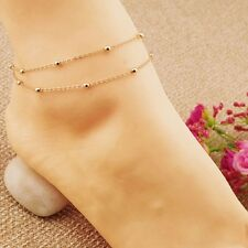 Gold Silver Chain Anklet Ankle Bracelet Barefoot Sandal Beach Foot Jewelry Charm