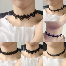 Fashion 90's Women Black Velvet Choker Necklace Pendant Gothic Handmade Jewelry