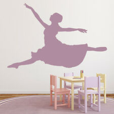 Leaping Ballet Dancer Ballerina Dancing Wall Stickers Gym Sports Decor Art Decal