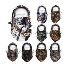 Camo Ski Neck Hoods Full Face Mask Cover Hat Cap Winter Outdoor Safety