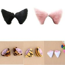 Hair Clip Long Faux Fur Anime Cats Ears Hairpin Cosplay Halloween Party Costume