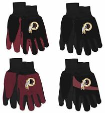 Brand New NFL Washington Redskins No Slip Grip Utility Work Gardening Gloves