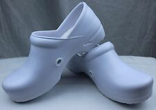 Cherokee Anywear Angel White Nurse Clogs Doctor/Garden/Chef Shoes Slip Resistant