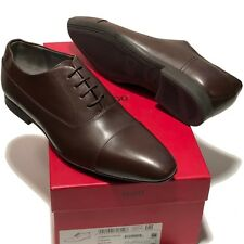 HUGO BOSS Red Label Black Leather Moctoe Men's Fashion Oxford Dress Shoes Mettor