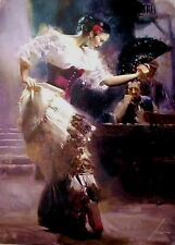 pino daeni Hand-painted Portrait Oil Painting Wall Art on Canvas,Dancers, taking