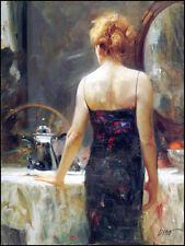 Handcraft Impression Portrait Oil Painting on Canvas Wall Art Decor pino daeni
