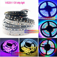 WS2811 5050 RGB LED Strip 1M 5M 150 300Leds Addressable DC12V IP60 IP65 IP67