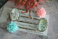 Vintage Style Lady Cameo Bobby Pins Gatsby Mannequin Dress Bobby Pins Hair Pins