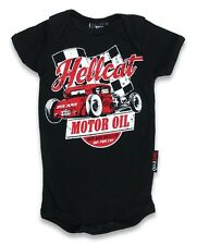 Hotrod Hellcat Motor Oil Romper Onesie Punk Tattoo Baby Alternative Rockabilly