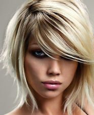 MINI SIDE SWEEPING CLIP IN ON FRINGE BANGS HAIRPIECE HUMAN HAIR ALL COLOURS