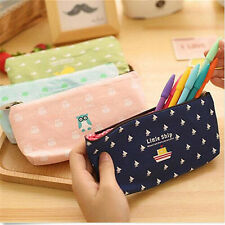 Cute Canvas Pen Pencil Case Bag Coin Pouch Makeup Purse Cosmetic Holder