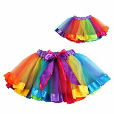Baby Girls Tutu Tulle Skirt Toddler Kids Rainbow Ballet Dance Dress Pettiskirt