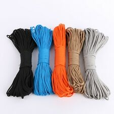 100FT Paracord Parachute Cord Lanyard Rope 7 Core Strand Nylon Outdoor Survival