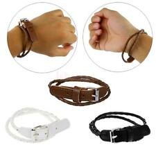 Men's Fashion Hand Cuff Multi-layer Leather Bracelet Wristband Bangle in 3 color