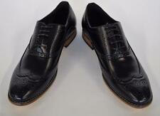 Men's Masimo Black Faux Leather Wing Tip Lace Up Oxford Dress Shoes 2512-01