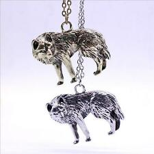 Occident Wolf Men Vintage Retro Long Chain Charm Necklace Pendant Jewelry 2016