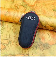 Genuine leather car key case key holder key chain for Audi Auto