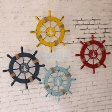 Nautical Wooden Anchor Boat Pirate Ship Wheel Wall Hanging Plaque Pub Bar Decor