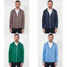 American Apparel Unisex Tri-Blend Full Zip Terry Hoodie