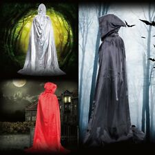 Halloween Dress Costume Vampire Witchcraft Cape Gothic Hooded Cloak Wicca Robe
